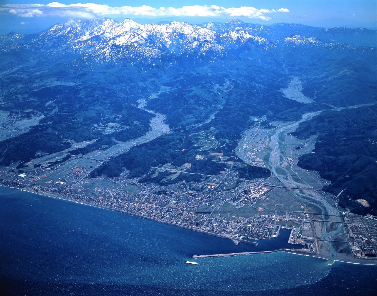 Aerial View of Itoigawa