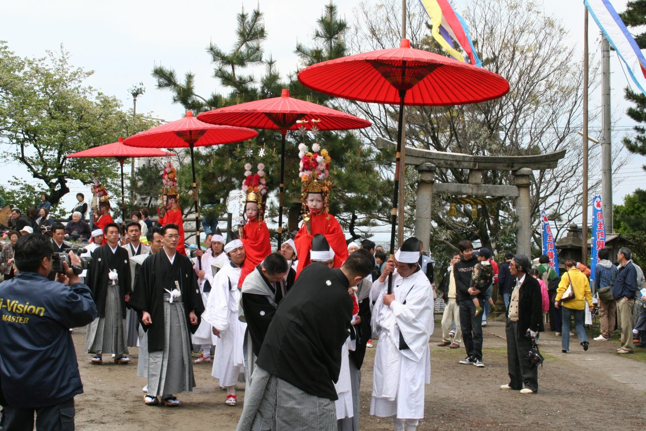 Procession before the festival begins