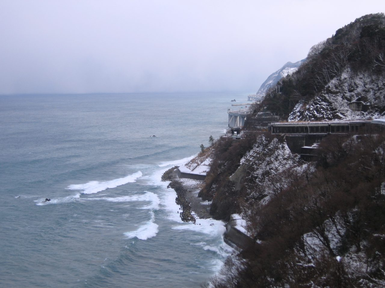 Cliffs of Oyashirazu in Winter