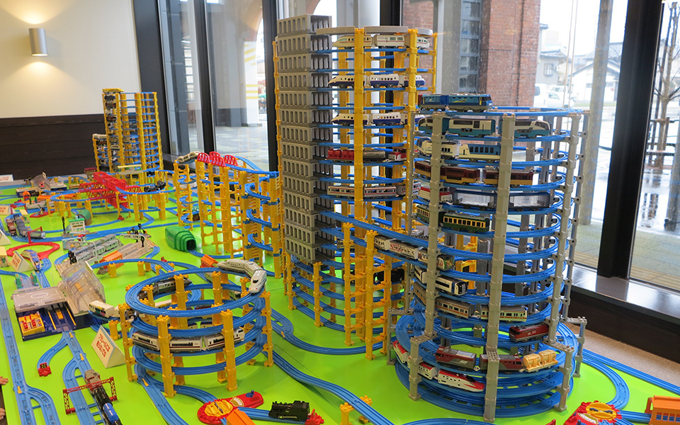 One of the largest Plarail sets in Japan