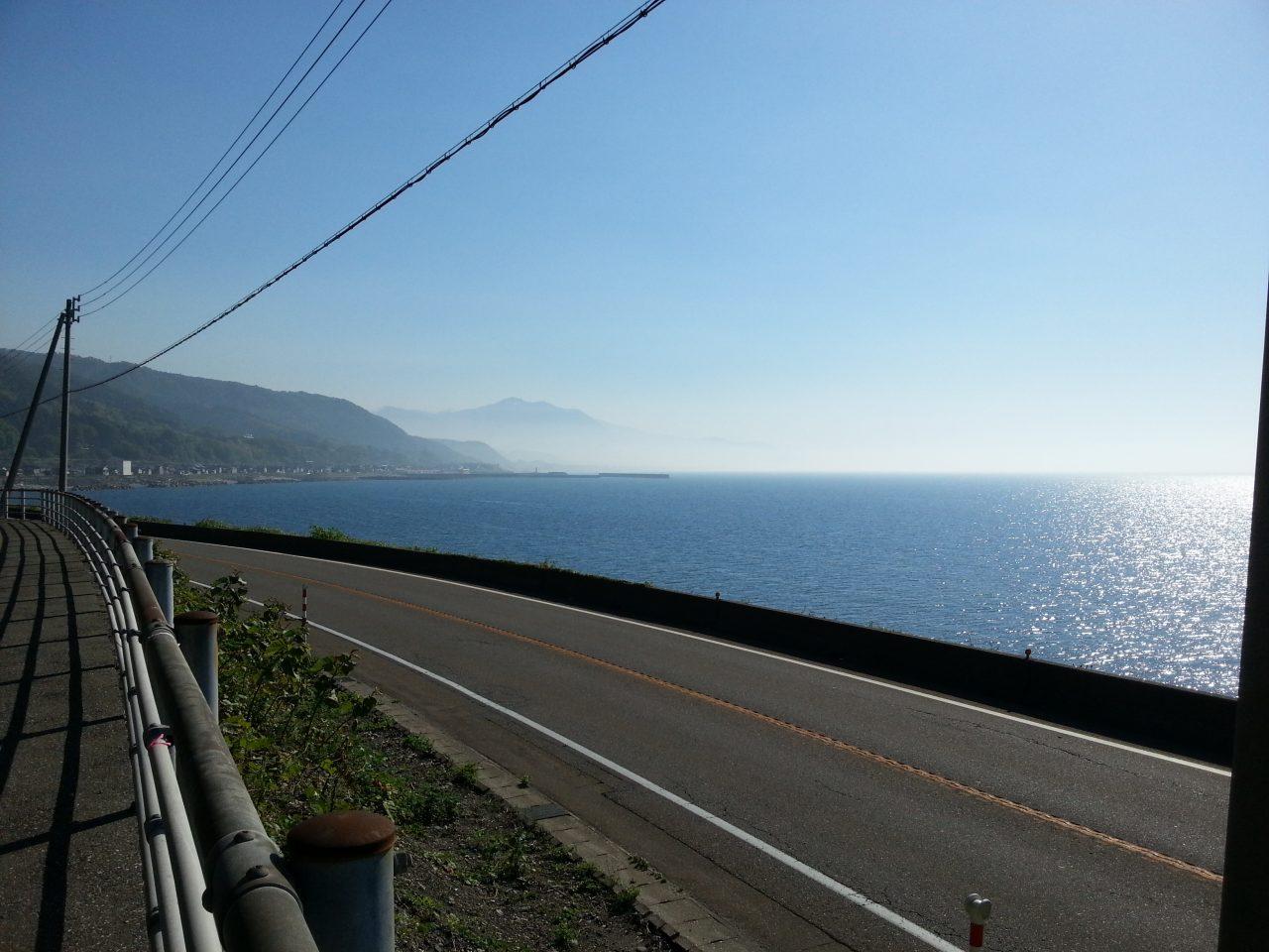 Mt. Kurohime across the sea