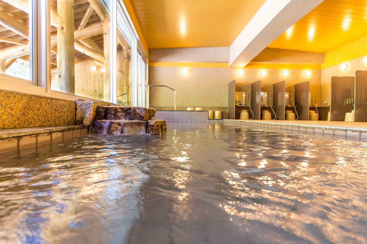 Soak in natural hot springs